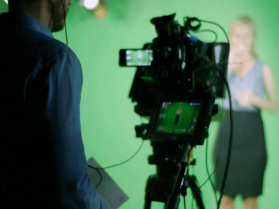 Hire our green screen studio and sit in the Director's Chair!
