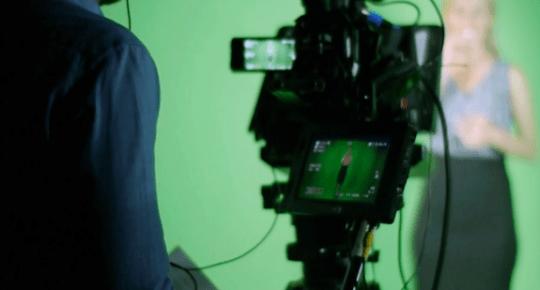 Green screen video shoot