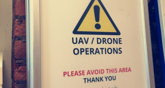 UAV and Drone safety sign